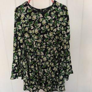 ModCloth Green Leaf Dress L